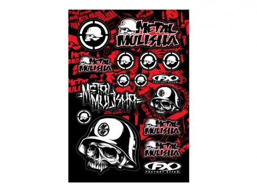 Planche stickers - METAL MULISHA 1 - FX FACTORY