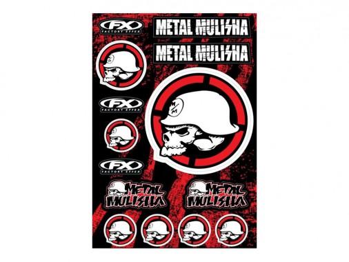 Planche stickers - METAL MULISHA 2 - FX FACTORY