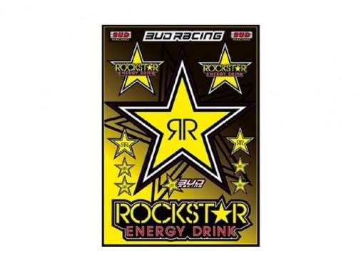 Planche stickers - ROCKSTAR / BUD RACING