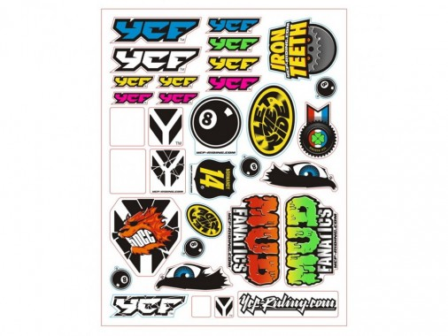 Planche de stickers - YCF