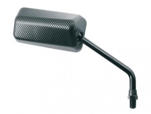 Rétroviseur gauche look carbone type F1 - 10mm