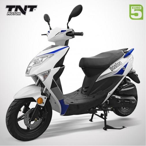 "Scooter 50cc BOSTON 10"" - 4 Temps - TNT MOTOR - Blanc / Bleu"