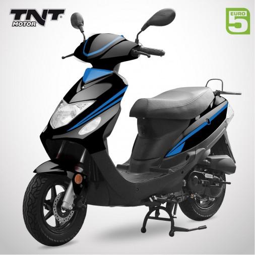 Scooter 50cc ROMA 3 - 4 Temps - TNT MOTOR - Noir Brillant / Bleu