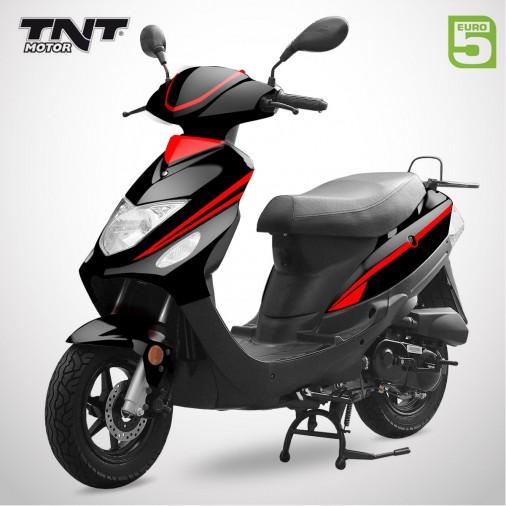 Scooter 50cc ROMA 3 - 4 Temps - TNT MOTOR - Noir Brillant / Rouge