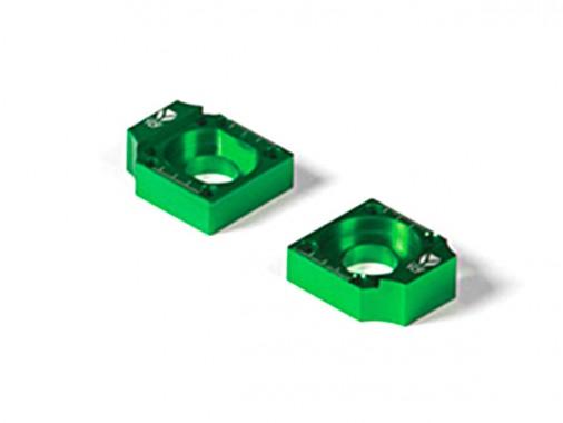 Tendeurs de chaîne alu CNC YCF - 15mm - Vert