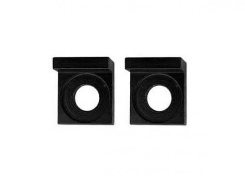 Tendeurs de chaîne alu carré - 12mm - Noir