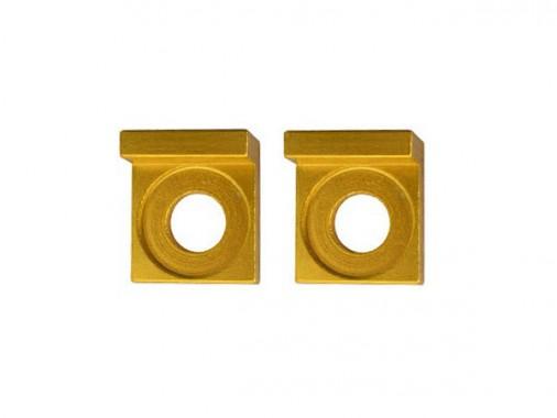 Tendeurs de chaîne alu carré - 15mm - Or