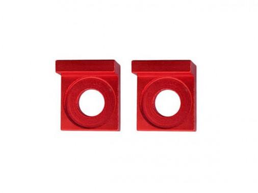 Tendeurs de chaîne alu carré - 15mm - Rouge