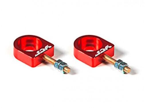 Tendeurs de chaîne alu CNC YCF - 12mm - Rouge