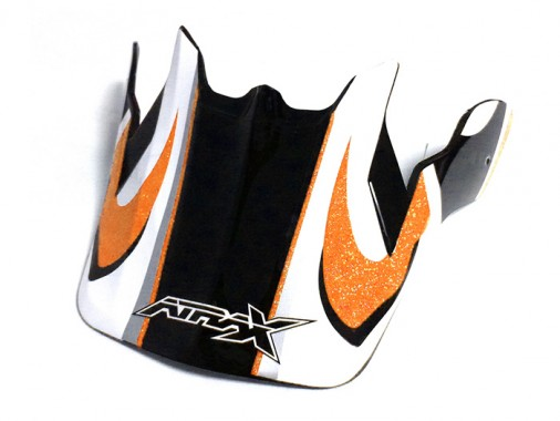 Visière casque ATRAX - Orange