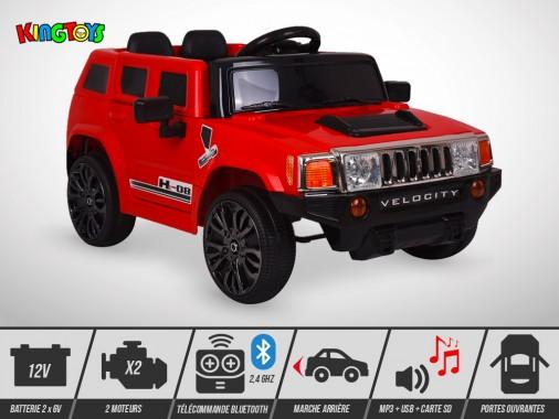 Voiture électrique enfant KINGTOYS - 4X4 HE-08 50W - Rouge