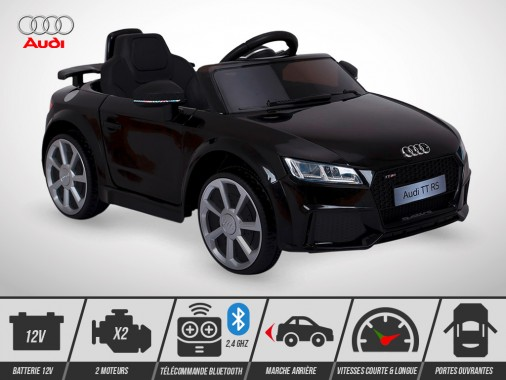 Voiture électrique enfant KINGTOYS - Audi TT RS 50W - Noir