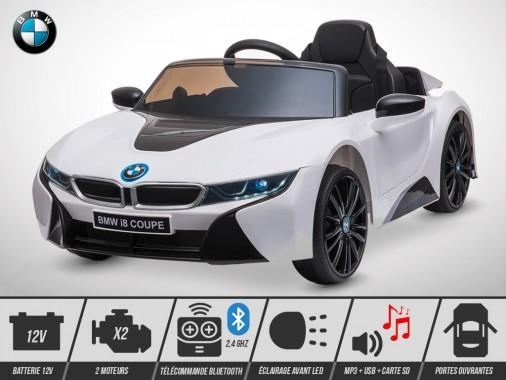 Voiture électrique enfant KINGTOYS - BMW I8 60W - Blanc