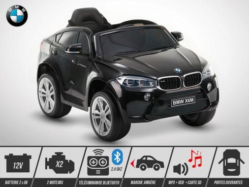 Voiture électrique enfant KINGTOYS - BMW X6M 70W - Noir