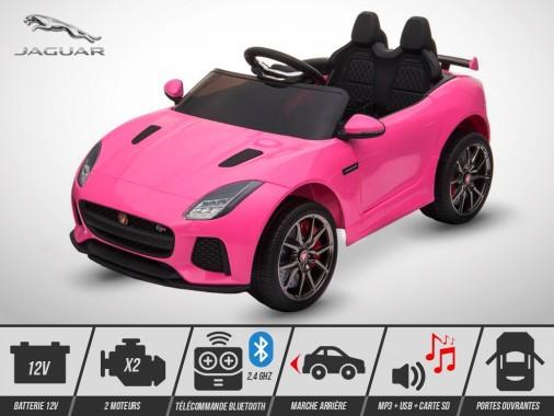 Voiture électrique enfant KINGTOYS - Jaguar F-TYPE SVR 50W - Rose