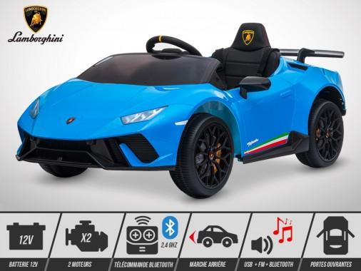 Voiture électrique enfant KINGTOYS - Lamborghini Huracan 60W - Bleu