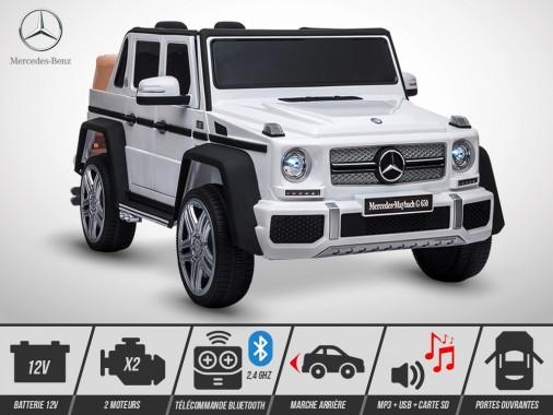 Voiture électrique enfant KINGTOYS - Mercedes G650 MAYBACH 50W - Blanc