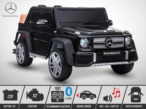 Voiture électrique enfant KINGTOYS - Mercedes G650 MAYBACH 50W - Noir