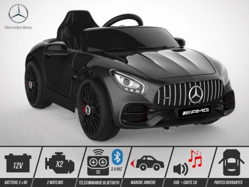 Voiture électrique enfant KINGTOYS - Mercedes GT AMG 40W - Noir
