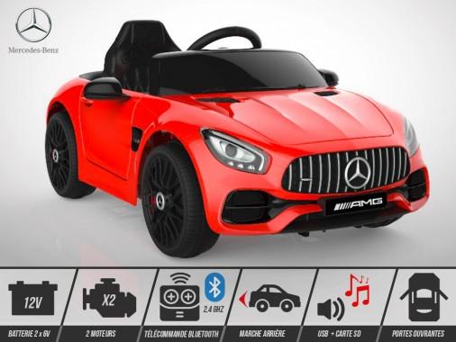 Voiture électrique enfant KINGTOYS - Mercedes GT AMG 40W - Rouge