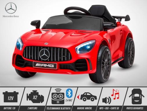 Voiture électrique enfant KINGTOYS - Mercedes GT-R AMG 40W - Rouge