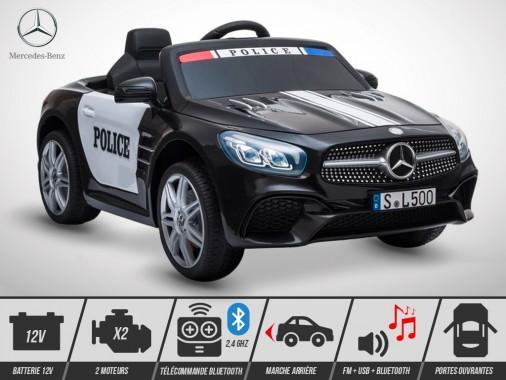 Voiture électrique enfant KINGTOYS - Mercedes SL 500 80W - Police