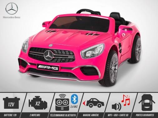 Voiture électrique enfant KINGTOYS - Mercedes SL 65 AMG 70W - Rose