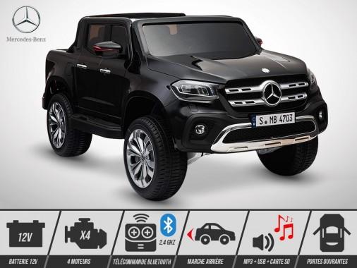Voiture électrique enfant KINGTOYS - Mercedes X-CLASS PICKUP 140W - Noir