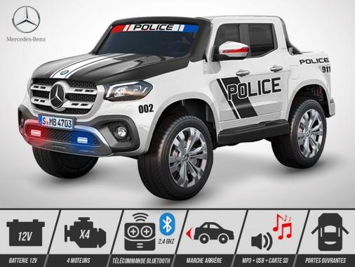 Voiture électrique enfant KINGTOYS - Mercedes X-CLASS PICKUP 140W - Police