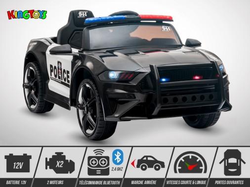 Voiture électrique enfant KINGTOYS - Mustang 60W - Police
