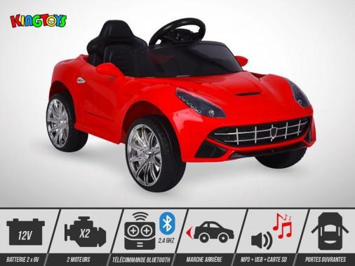 Voiture électrique enfant KINGTOYS - Roadster F16 50W - Rouge