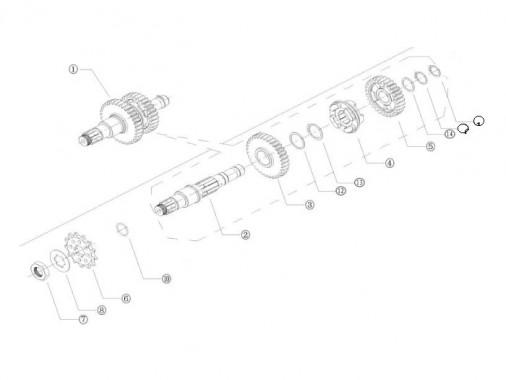 FIG. 17 - Arbre de sortie de boîte