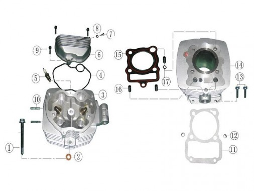 FIG. 01 - Culasse - Cylindre
