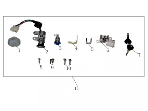 FIG. 35 - Kit serrure