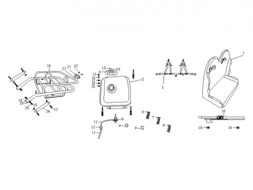 FIG. 06 - Porte-bagages - Réservoir - Banquette