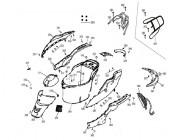 N°354 - Flan de carénage inférieur droit - Noir