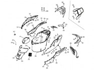 N°361 - Flan de carénage inférieur gauche - Noir