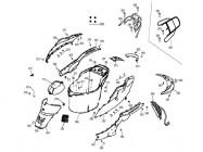 N°361 - Flan de carénage inférieur gauche - Noir/Vert
