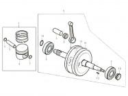 N°1 - Kit piston - 125cc