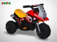 Moto électrique enfant KINGTOYS - Sliper 18W - Rouge / Jaune