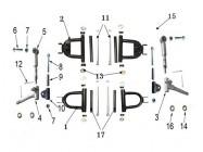 N°3 - Pivot de roue avant - Droit