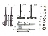 N°1-1 - Tube de fourche - Droit