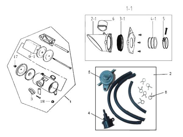 charly 110 et 125 filtre a air charly //dax boite a air dax