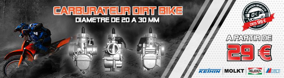 Carburateur KEIHIN / MOLKT / DELLORTO / MIKUNI - Diamètre de 20 à 30mm - Dirt Bike / Pit Bike