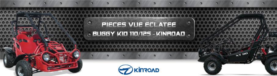 Vue Eclatée Buggy Kid 110/125 KINROAD - Pièces Détachées Buggy Kid 110/125 KINROAD