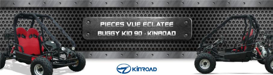 Vue Eclatée Buggy Kid 90 KINROAD - Pièces Détachées Buggy Kid 90 KINROAD