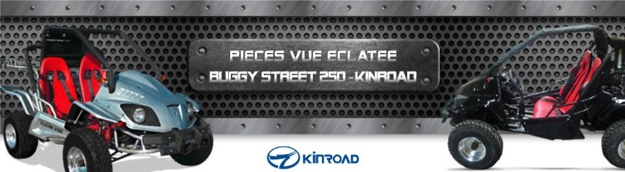 Vue Eclatée Buggy Street 250 KINROAD - Pièces Détachées Buggy Street 250 KINROAD