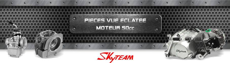 Vue Eclatée Moto 50cc SKYTEAM - Pièces Détachées Moto SKYTEAM 50 cm3