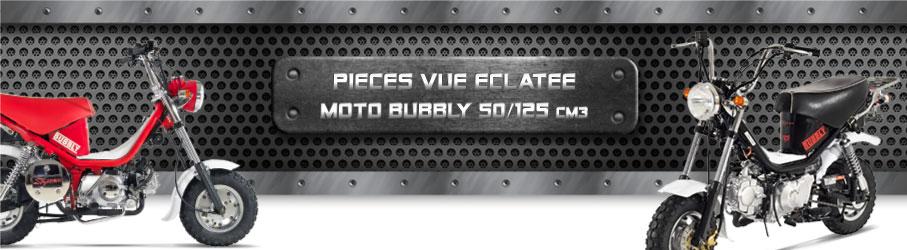 Vue Eclatée Moto Bubbly 50/125cc - Pièces Détachées Moto Bubbly 50/125 cm3