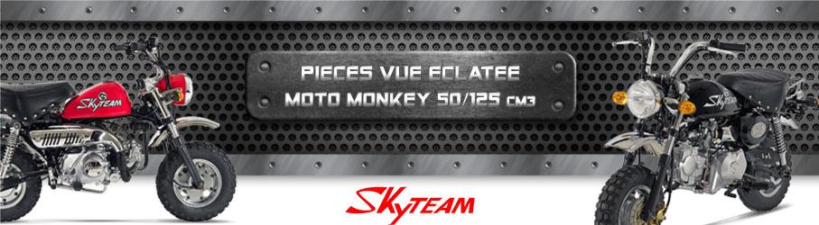 Vue Eclatée Moto Monkey 50/125cc - Pièces Détachées Moto Monkey 50/125 cm3
